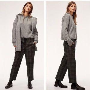 Aritzia Babaton jimmy pants gray check S (R8)